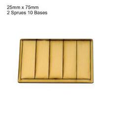 25 x 75mm Rectangle Bases - Tan (Primed)