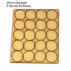 25mm Round Bases - Tan (Primed)
