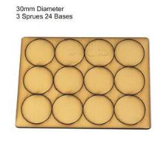 30mm Round Bases - Tan (Primed)