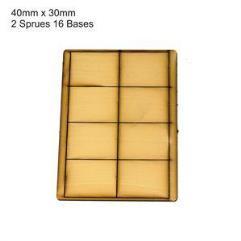 30 x 40mm Rectangle Bases - Tan (Primed)