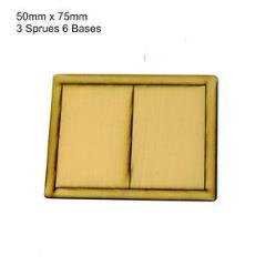 50 x 75mm Rectangle Bases - Tan (Primed)