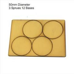 50mm Round Bases - Tan (Primed)