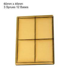 45 x 60mm Rectangle Bases - Tan (Primed)