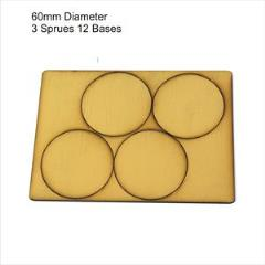 60mm Round Bases - Tan (Primed)