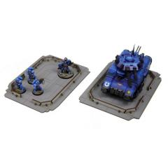 Arctic Military Base Landing Pads (x2) (Pre-Painted)