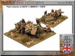 25 pdr Field Gun Limber w/Crew