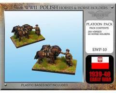 Polish Cavalry Horses w/Horse Holders