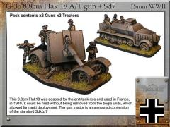 8.8cm Flak 18 A/T Gun & Armored Sd.7 - France 1940
