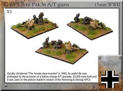 3.7cm Pak36 A/T Guns