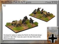 5cm Pak38 A/T Guns