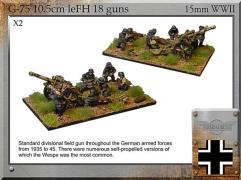10.5cm leFH18 Field Guns