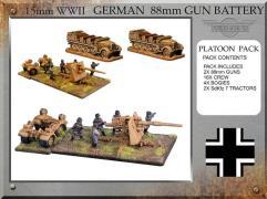 88mm Gun Battery w/Tractors
