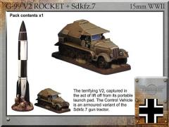 V2 Rocket & Sdkfz.7 Control Vehicle