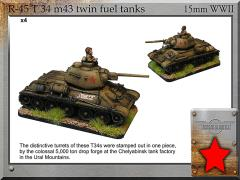 T-34 m43 Chelyabinsk Twin Fuel Tanks