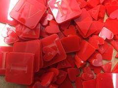 War & Empire Acrylic Token Set - Red