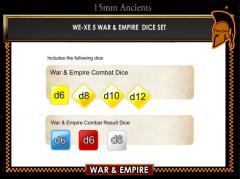 War & Empire Dice Set
