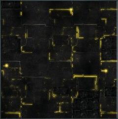 3' x 3' - Robot City #1, Yellow