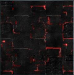 3' x 3' - Robot City #1, Red
