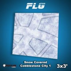 3' x 3' - Snow Covered Cobblestone City #1