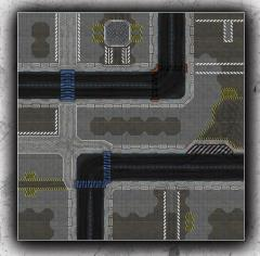 4 x 4' - High-Tech City