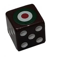 Combat Dice - Brown w/Italy (6)