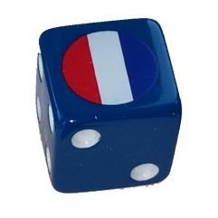 Combat Dice - Blue w/France (6)