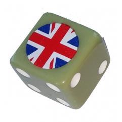 Combat Dice - Khaki Green w/Great Britain (6)