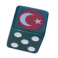 Combat Dice - Gray-Blue w/Turkey (6)