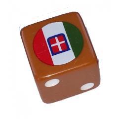 Combat Dice - Orange w/Italy (6)
