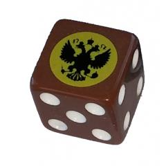 Combat Dice - Brown w/Imperial Russia (6)