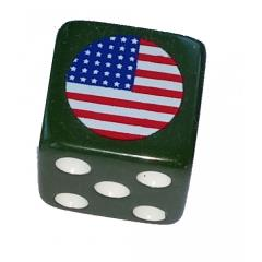 Combat Dice - Olive Green w/USA (6)