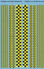 Checker Pattern 1 - Black/Yellow