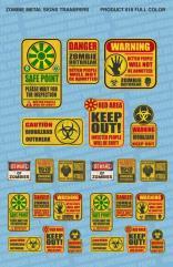 Zombie Hazard Signs