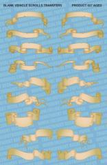 Blank Vehicle Scrolls - Sepia