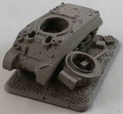 Destroyed Sherman III (Diesel) #1