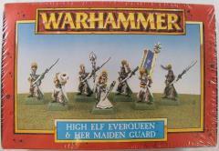 High Elf Everqueen & Her Hand Maiden Guard