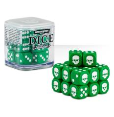 D6 12mm Dice Cube - Green (20)