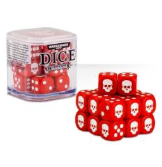 D6 12mm Dice Cube - Red (20)
