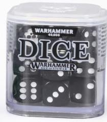 D6 12mm Dice Cube - Black (20)