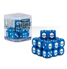 D6 12mm Dice Cube - Blue (20)