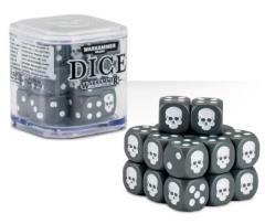 D6 12mm Dice Cube - Grey (20)