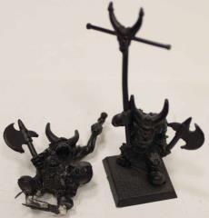 Black Orc Standard Bearer & Musician #1