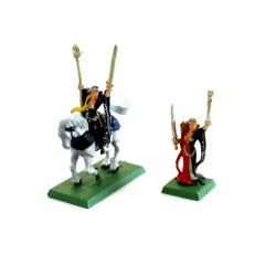 Bretonnian Damsel Mounted and On Foot #1