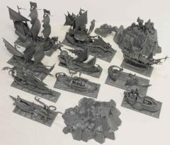DreadFleet Complete 43 Piece Miniatures Collection!