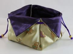 Amethyst Dragon Lotus Dice Bag (Deluxe)
