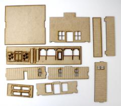 Old West One Story Building Collection #1