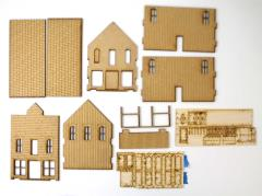 Old West Two Story w/Balcony & Upstairs Door Collection #1