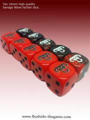 Savage Wave Faction Dice