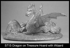 Dragon on Treasure Hoard w/Wizard