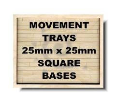 25mm Square/25x50mm Cavalry Bases - 6x4/6x2 Formation
